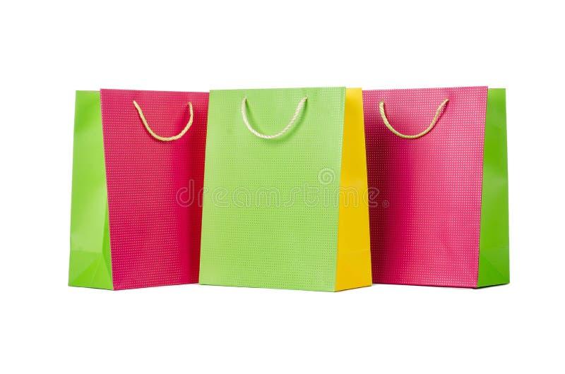 Sacs à provisions colorés photos stock