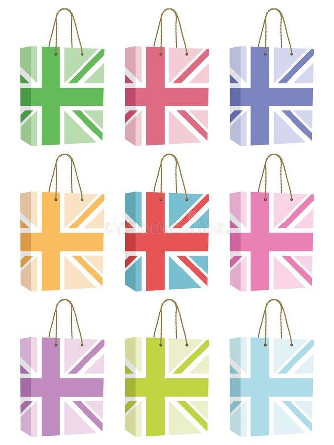 Sacs britanniques illustration libre de droits
