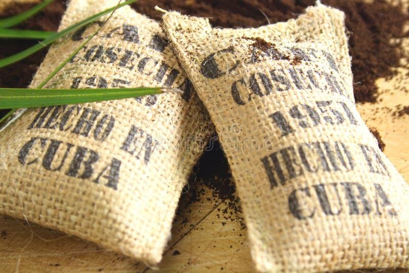 Sacs cubains à café image stock