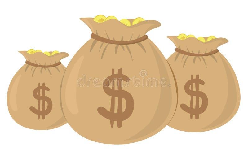 Sacs d'argent image stock