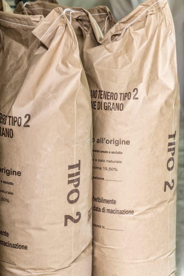 Sacs de farine photo libre de droits