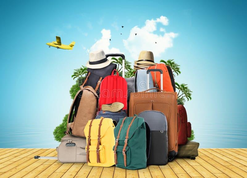 Sacs de voyage illustration libre de droits