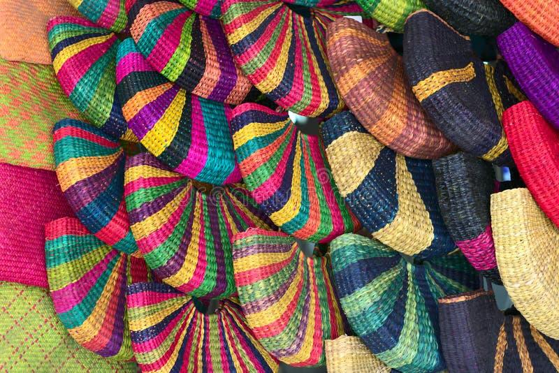 Sacs sur un marché péruvien d'Inca, Lima photo stock