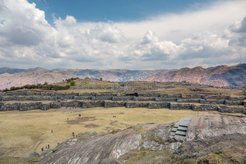 Sacsayhuamá n ruïnes in Cusco Peru stock fotografie