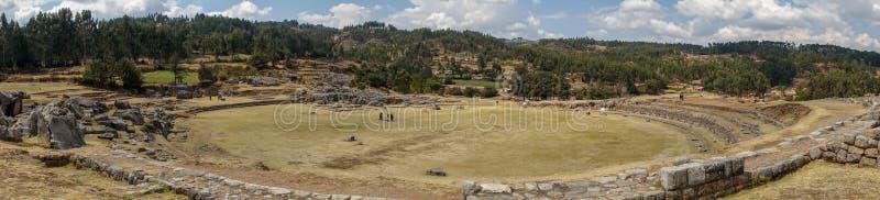 Sacsayhuamà ¡ n in Cusco Peru, een oude Inca-vesting stock afbeeldingen