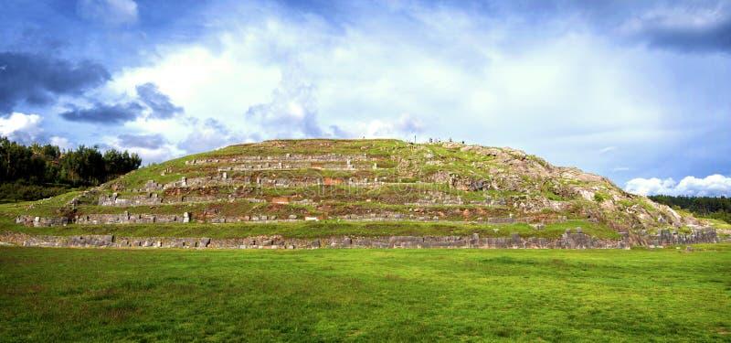 Sacsayhuaman堡垒墙壁,在库斯科,秘鲁 库存图片
