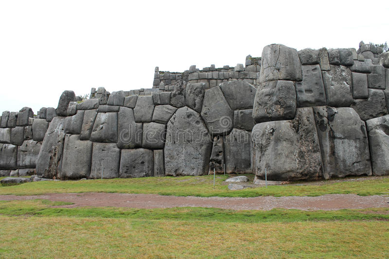 Sacsayhuaman墙壁 免版税库存照片