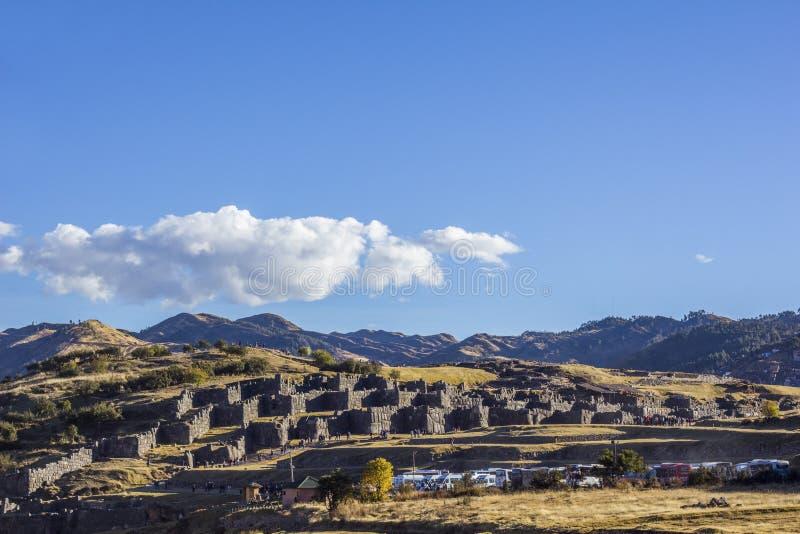 Sacsayhuaman arruina Cuzco Perú fotografía de archivo libre de regalías