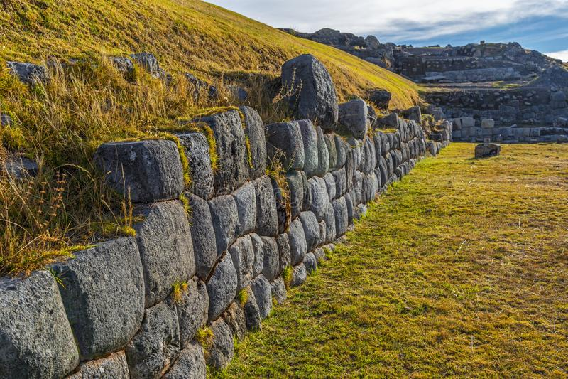 Sacsayhuaman Inca Ruins, Cusco, Peru arkivfoto