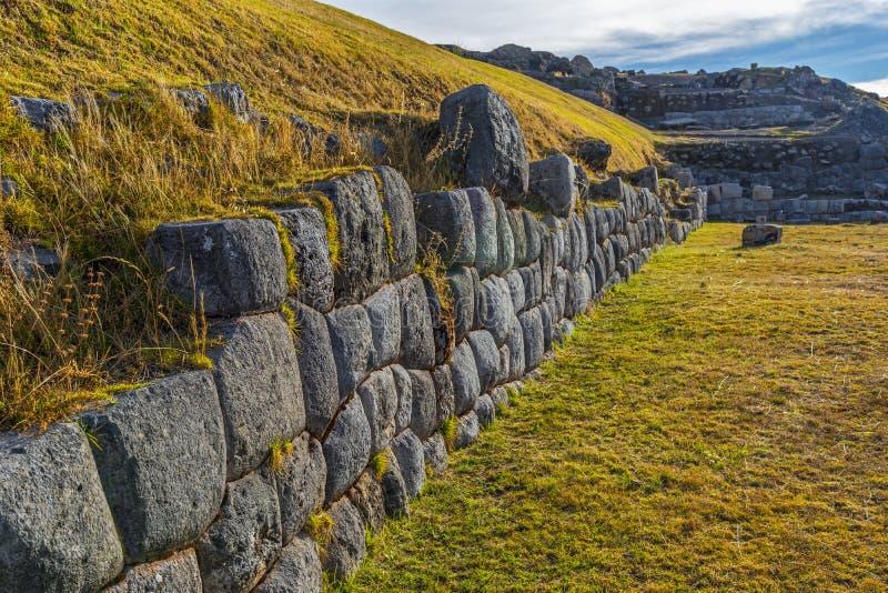 Sacsayhuaman Inca Ruins, Cusco, Peru foto de stock