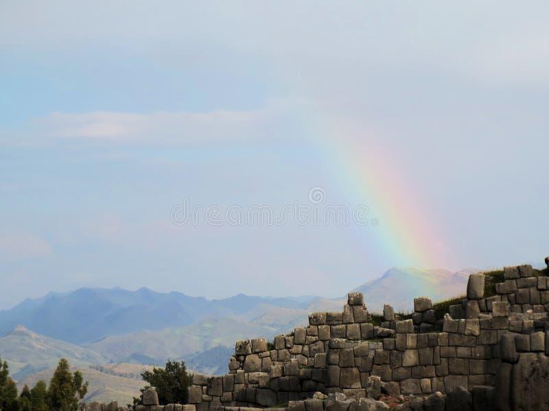 Sacsayhuaman, Incas ruiny w peruvian Andes obrazy stock