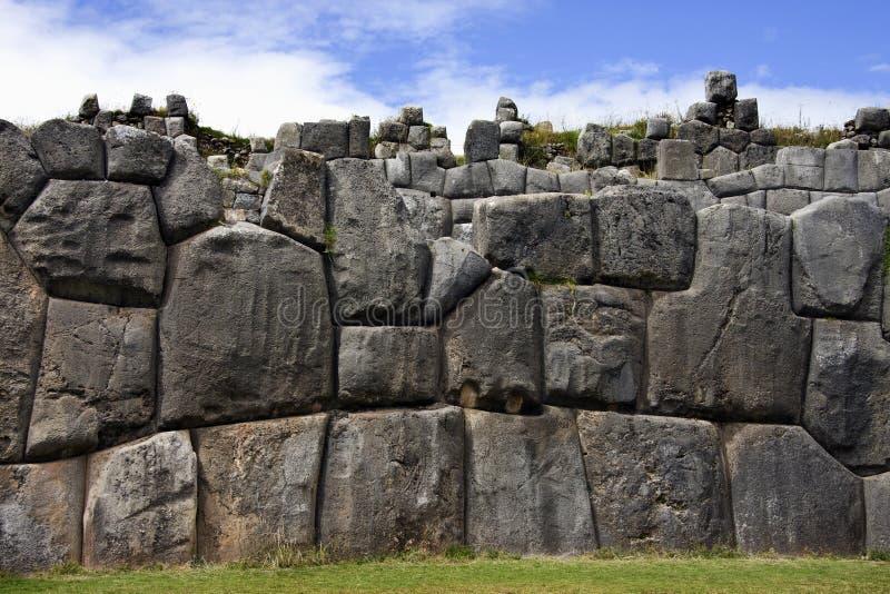 Sacsayhuaman nära Cuzco - Peru fotografering för bildbyråer