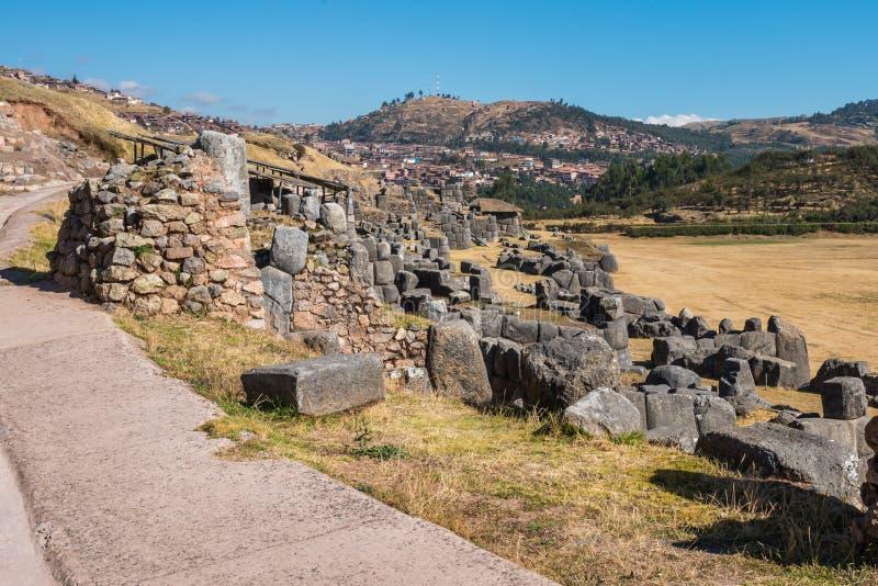 Sacsayhuaman ruine les Andes péruviens Cuzco Pérou photographie stock libre de droits