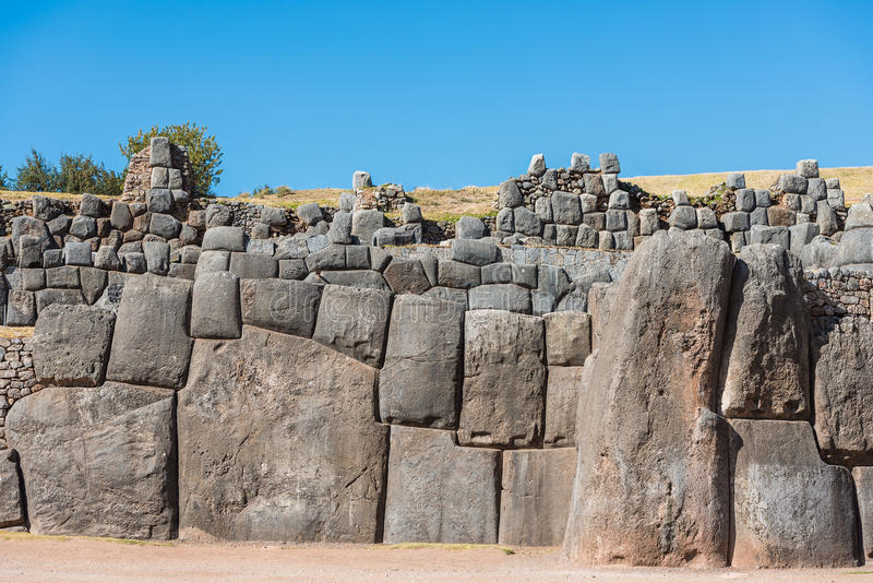 Sacsayhuaman ruine les Andes péruviens Cuzco Pérou images stock