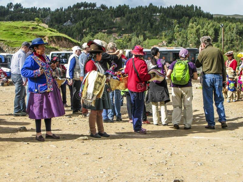 Sacsayhuaman, ruines d'Inca dans les Andes péruviens chez Cuzco Pérou image libre de droits