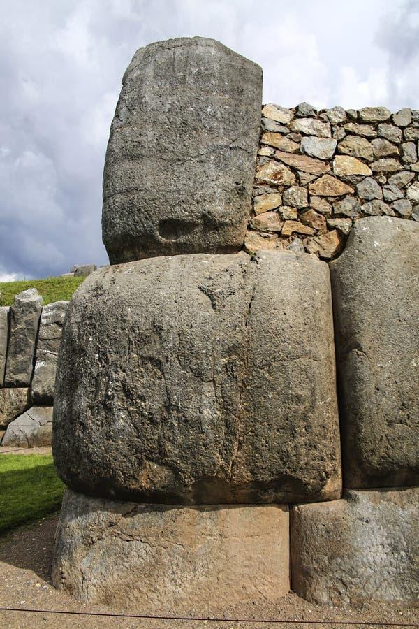 Sacsayhuaman väggar, forntida incafästning nära Cuzco fotografering för bildbyråer