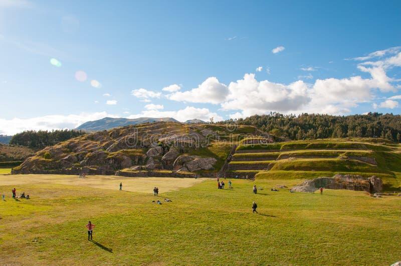 Sacsaywaman ruiny w świętej dolinie, Peru obraz stock
