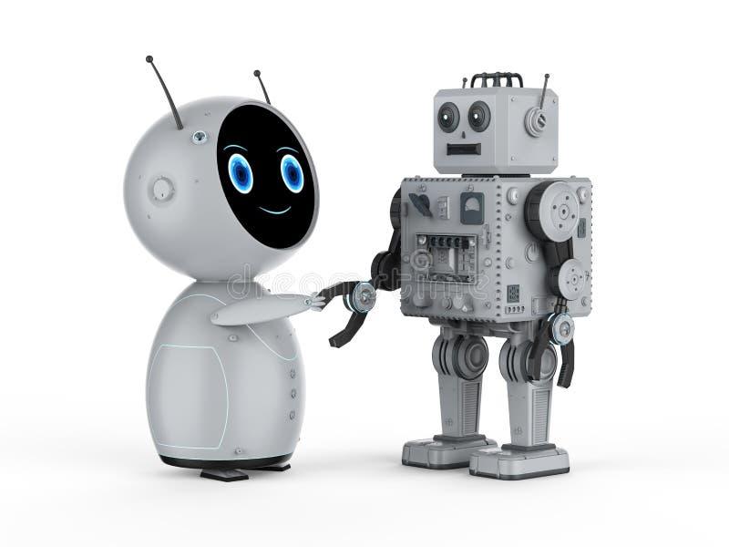 Sacudida de la mano del robot libre illustration