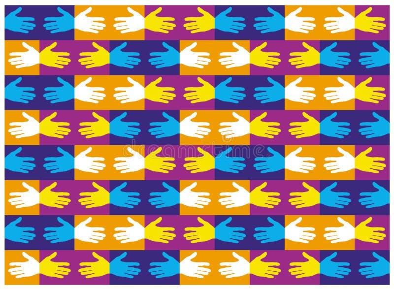Sacudida de las impresiones de la impresión de la mano ilustración del vector