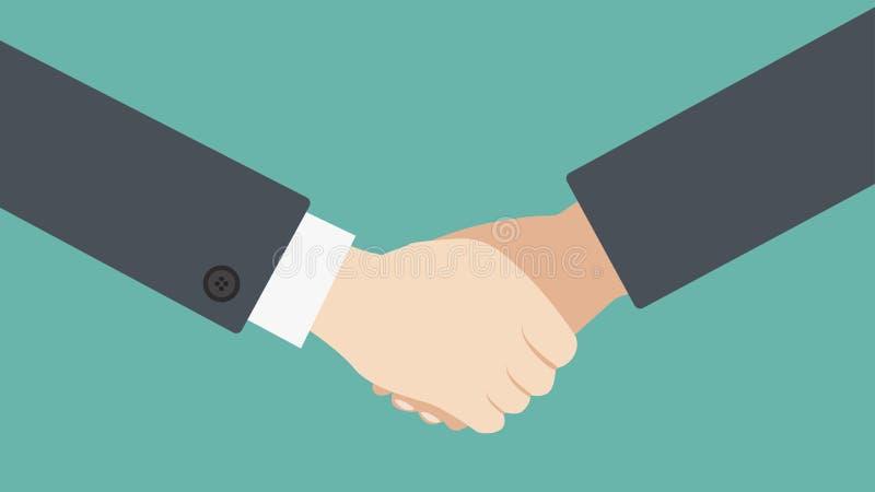 Sacudida del ejemplo del vector del negocio de las manos ilustración del vector