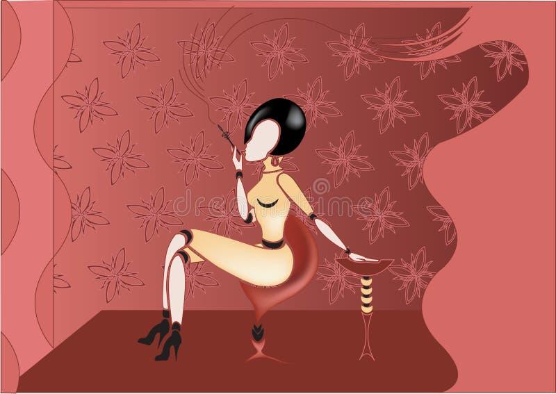 Sacy lady royalty free illustration