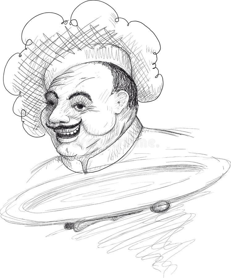 Sadło kucharz ilustracja wektor