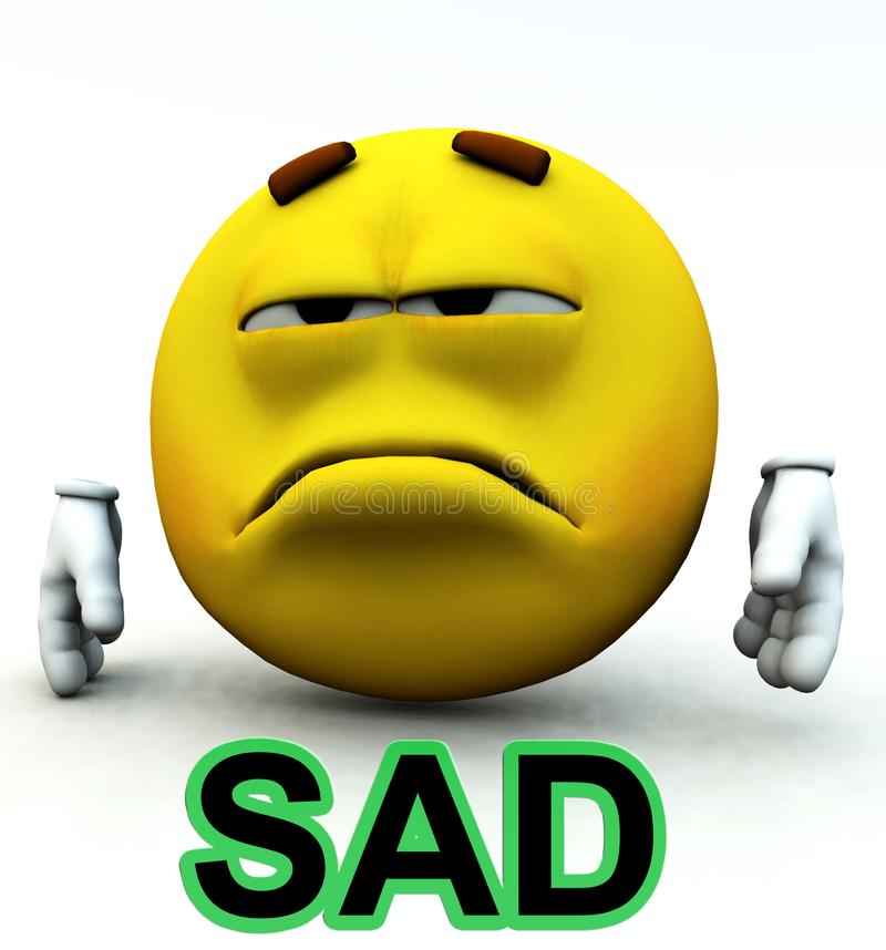 Sad stock photography