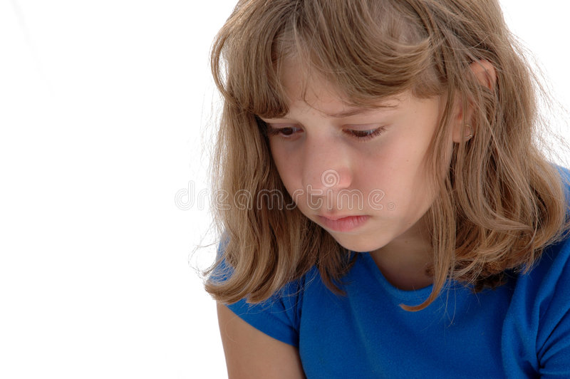 Sad Adolescent royalty free stock images