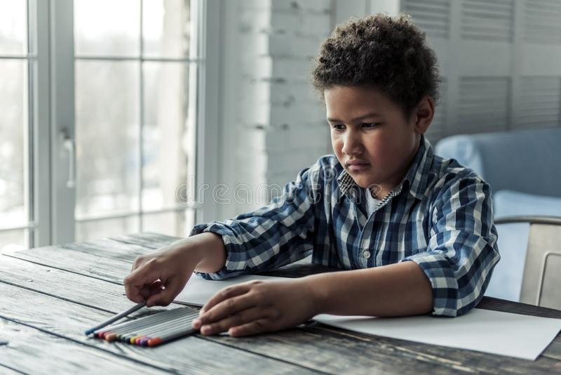 Afro American boy stock images