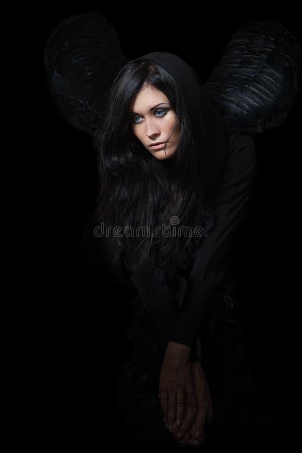 Sad angel stock photography