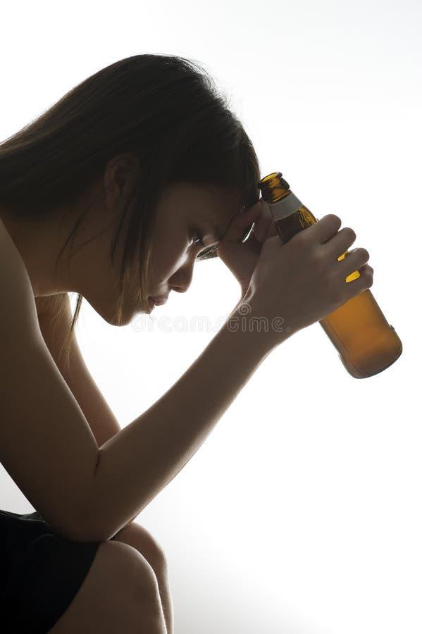 Sad asian girl stock images