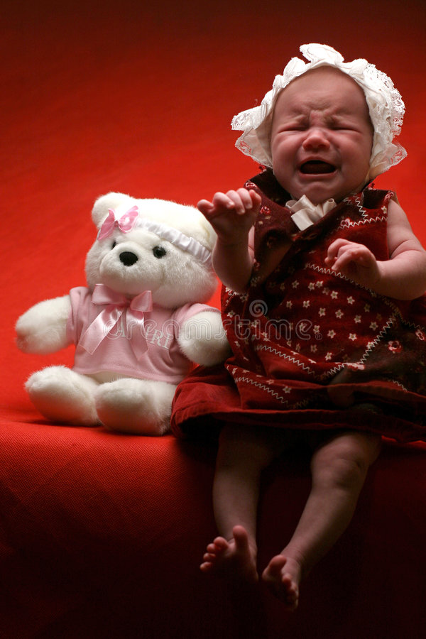 Download Sad Baby stock image. Image of tearful, girl, tears, expressions - 281599