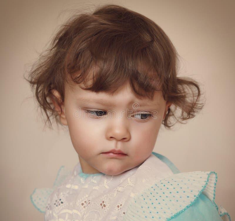 Download Sad Baby Girl Looking Down. Closeup Stock Image - Image of beauty, eyes: 35574923