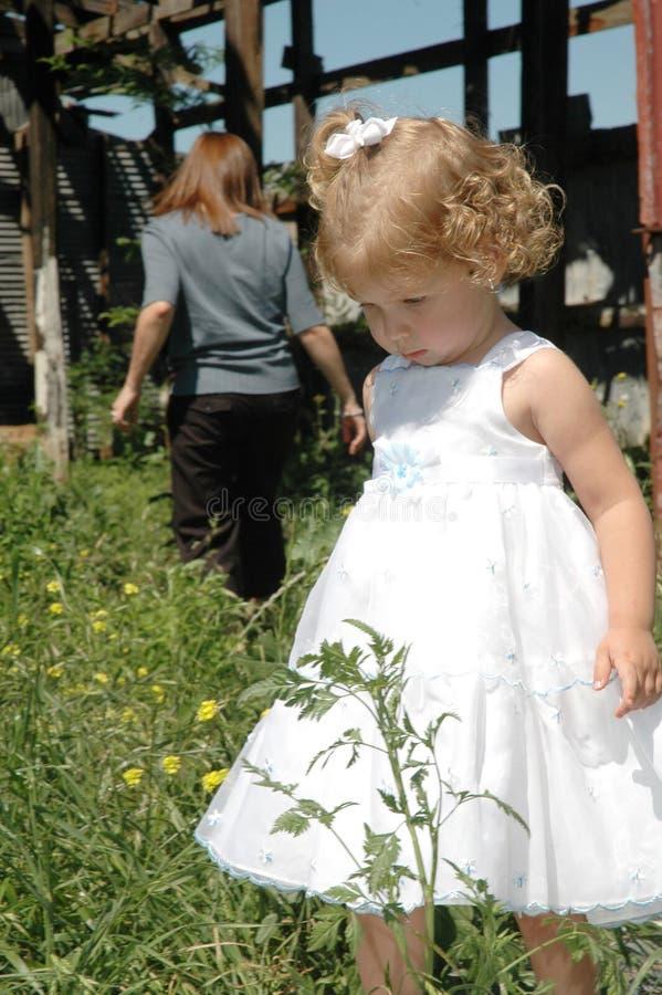 SAD barn royaltyfria foton