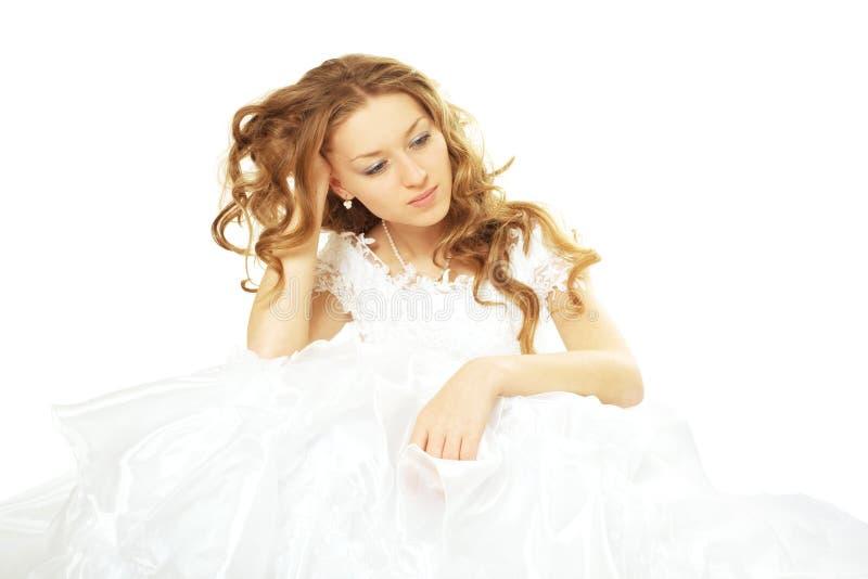 Sad Beauty Bride Stock Photo