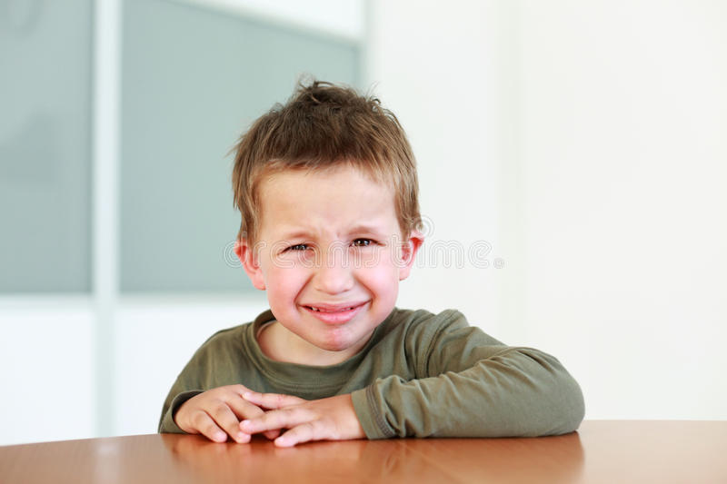Sad Boy Crying Stock Photos