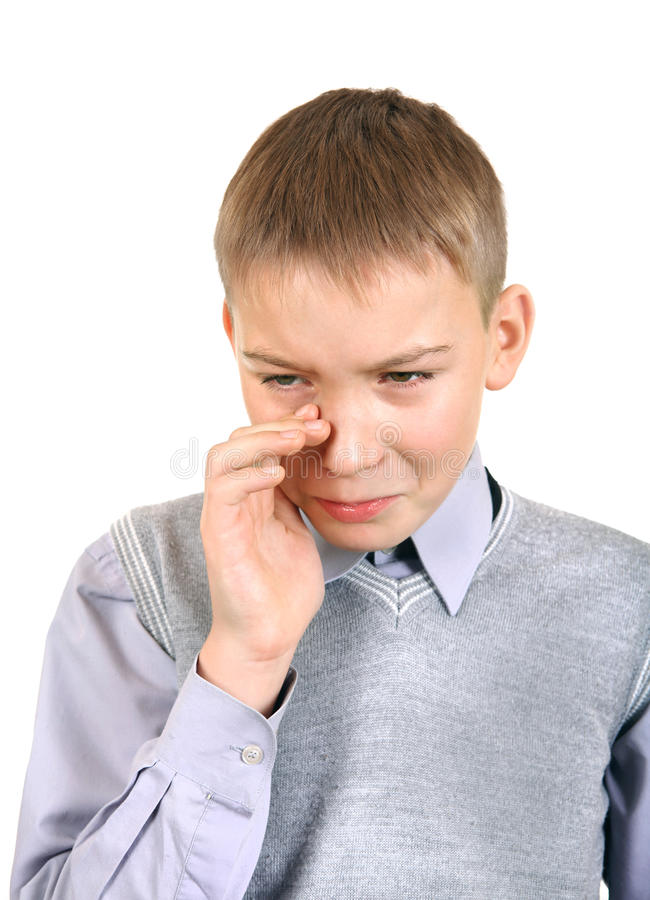 Download Sad Boy stock photo. Image of person, hand, disturbance - 35592620