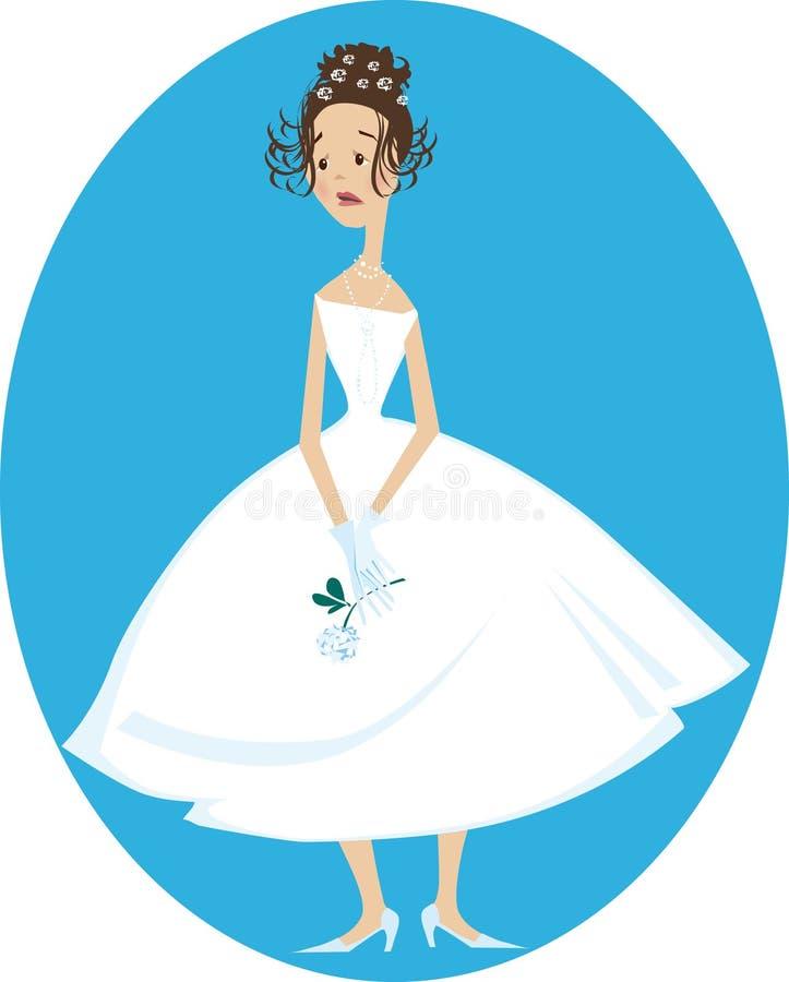 Sad bride royalty free illustration