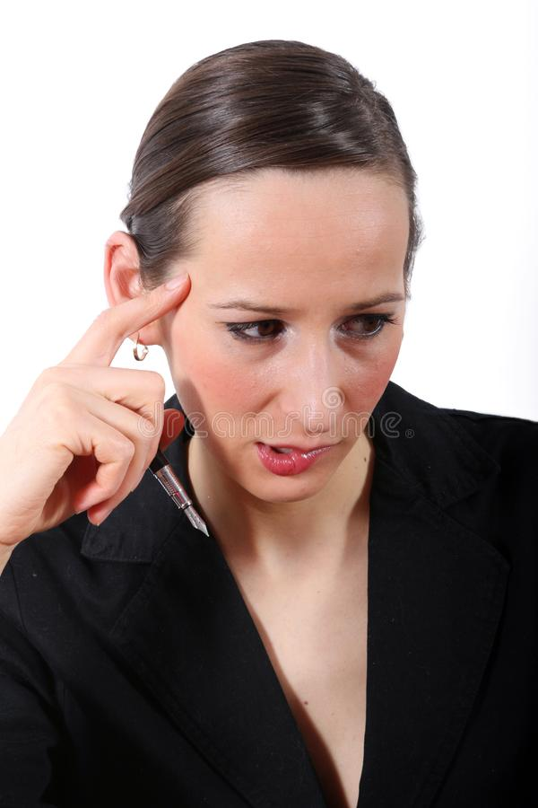 Download Sad business woman stock image. Image of woman, overworked - 1975175