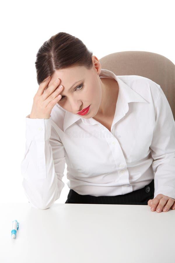 Sad business woman royalty free stock photos