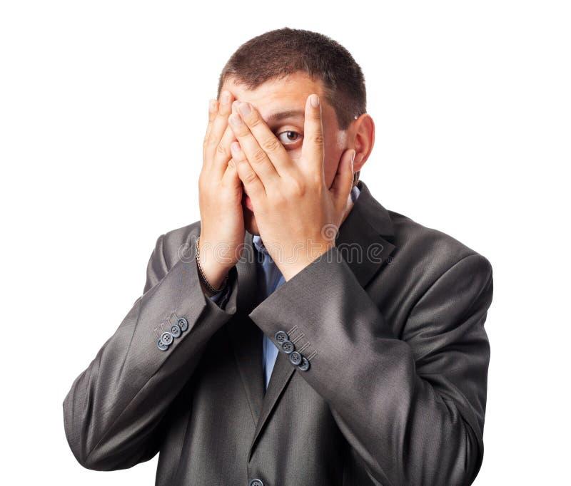 Sad businessman stock photos