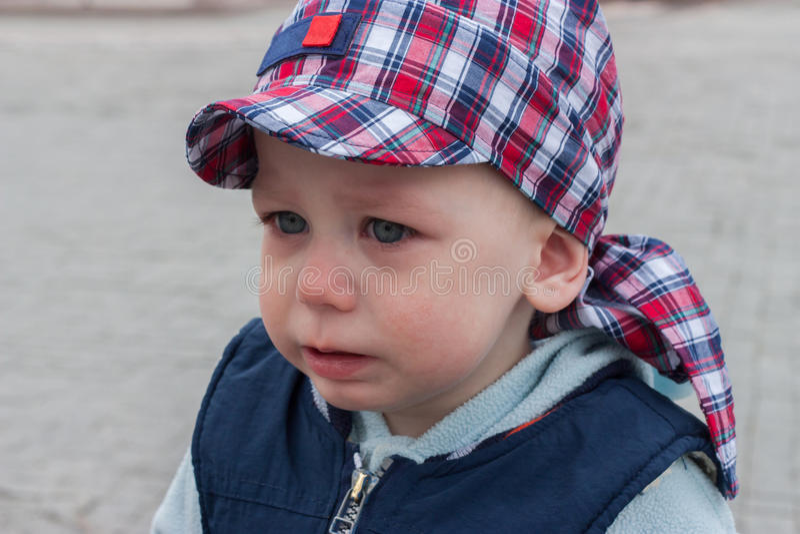 Sad child crying royalty free stock photography