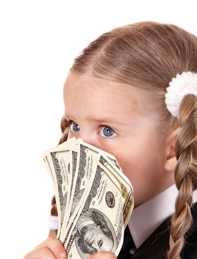 Download Sad Child With Money Dollar. Stock Photo - Image: 16668364