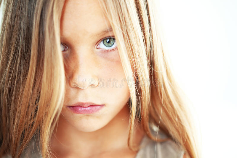 Download Sad child stock image. Image of looking, girl, lovely - 32508771
