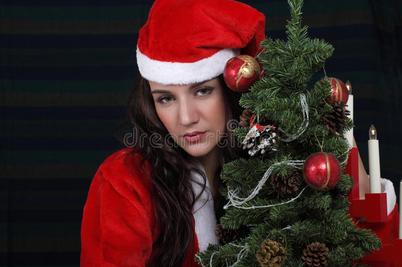 Download Sad Christmas girl stock image. Image of lights, emotion - 35411527