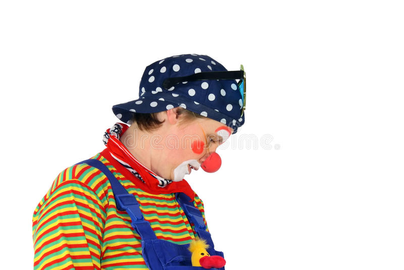 SAD clown arkivfoto