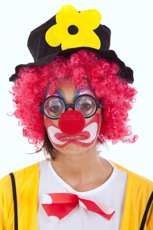 SAD clown royaltyfri fotografi