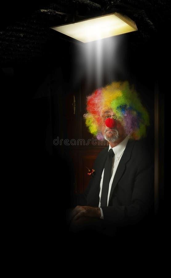 Sad clown stock image