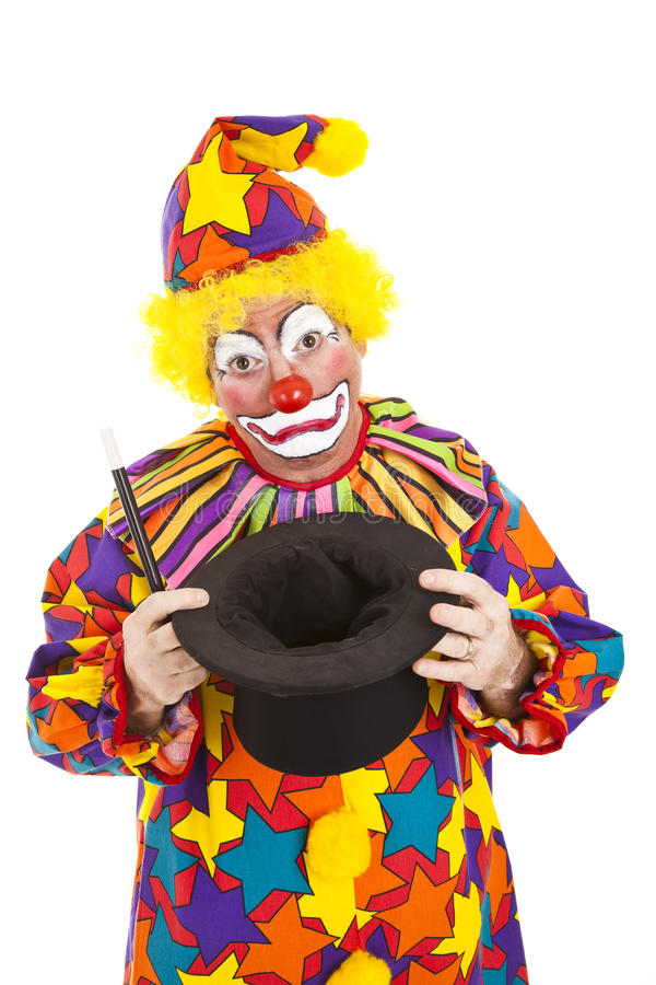 Download Sad Clown Empty Hat stock image. Image of caucasian, occupation - 18043639