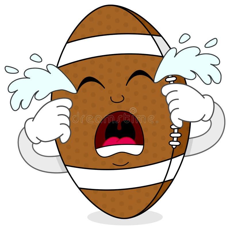 Sad Crying Football Cartoon Character Stock Vector ...
